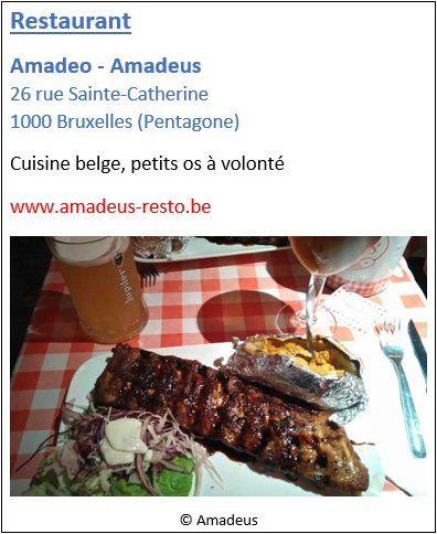 Restaurant Amadeo - Amadeus - 26 rue Sainte-Catherine - Pentagone