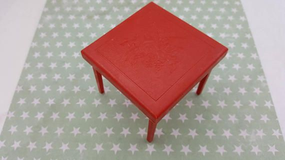 Renwal Card and Games Table Folding  Toy Furniture Doll House mint condition Card table Red Hard Plastic  #CardTable #DollHouseDollhouse #DollhouseFurniture #MinimalScratch #ToyDollHouse #GamesTable #VintageDollHouse #ToyFurniture #RenwallMarx #MetalLitho #dollhouse#miniatures#dolls#vintagetoys#retro#midcentury#marx#renwal#minimalscratch#etsyseller