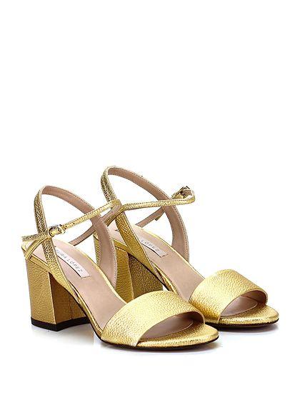 Sandali dorati con allacciatura elasticizzata per donna Kick Footwear HgXtyXEqG