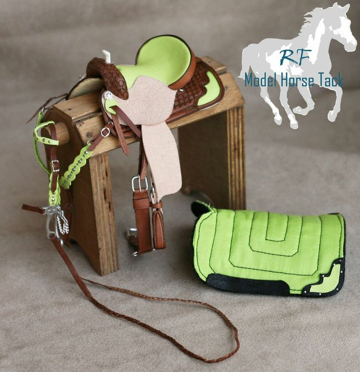 Western Saddle LSQ CM by Rachel Fail- Model Horse Tack for Breyers/Peter Stone