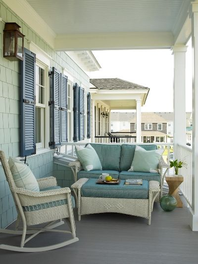 Although this is an American beach house - I love the overhang to accommodate a porch, a lovely place to sit in all weather