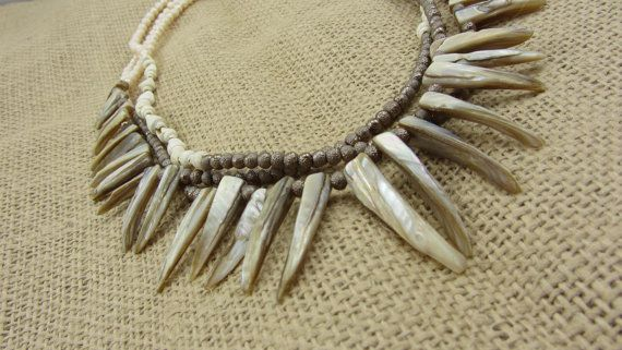 Layered Shell Necklace by AmarisJewelry on Etsy
