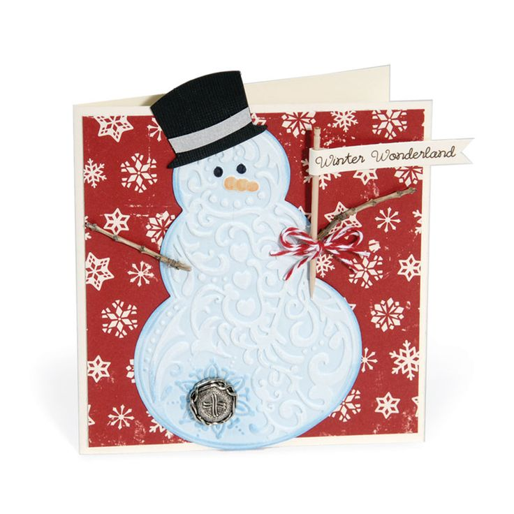 snowman christmas card winter snowman card 2 sizzix 2960