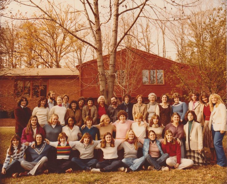 My Quinnipiac College 1981 Occupational Therapy graduating class outside our Shearman Avenue classroom