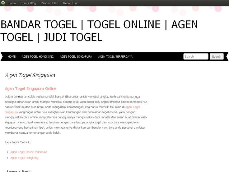 Agen Togel Singapura   Bandar Togel   Togel Online   Agen Togel   Jud…