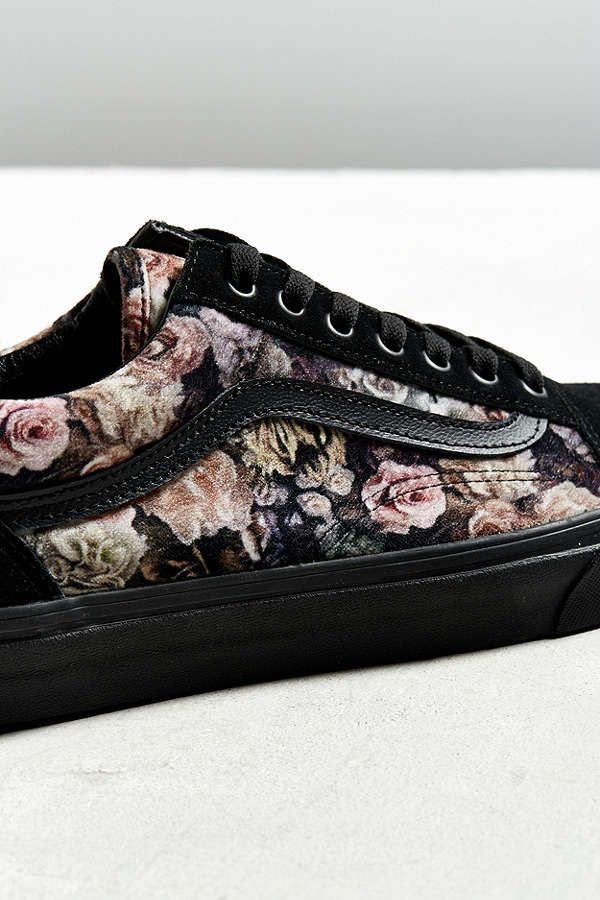 View5Vans Old Velvet Skool Floral Slide SneakerNew SVUMqzp