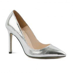 $13.18 Party Women's Stiletto Heel Pumps With Snake Veins Design
