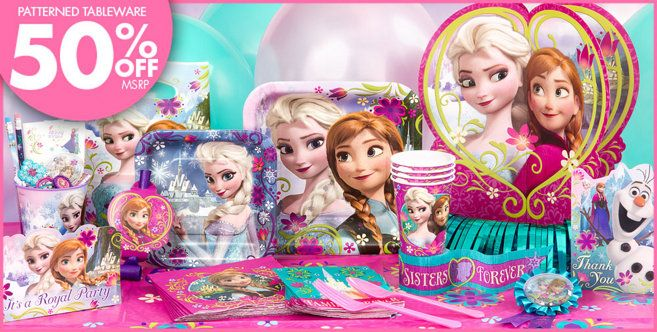 Oh No, I want to get everything for Violet's 4th bday party...it's gonna be hard to narrow down...lol!   Frozen Party Supplies - Frozen Birthday - Party City