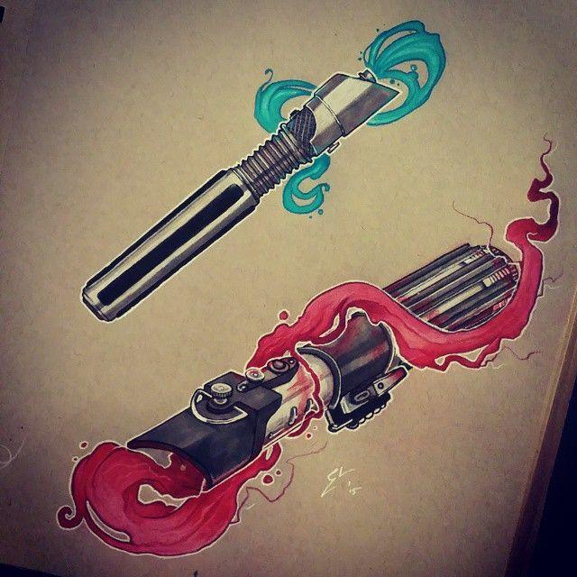 lightsaber tattoo - Pesquisa Google