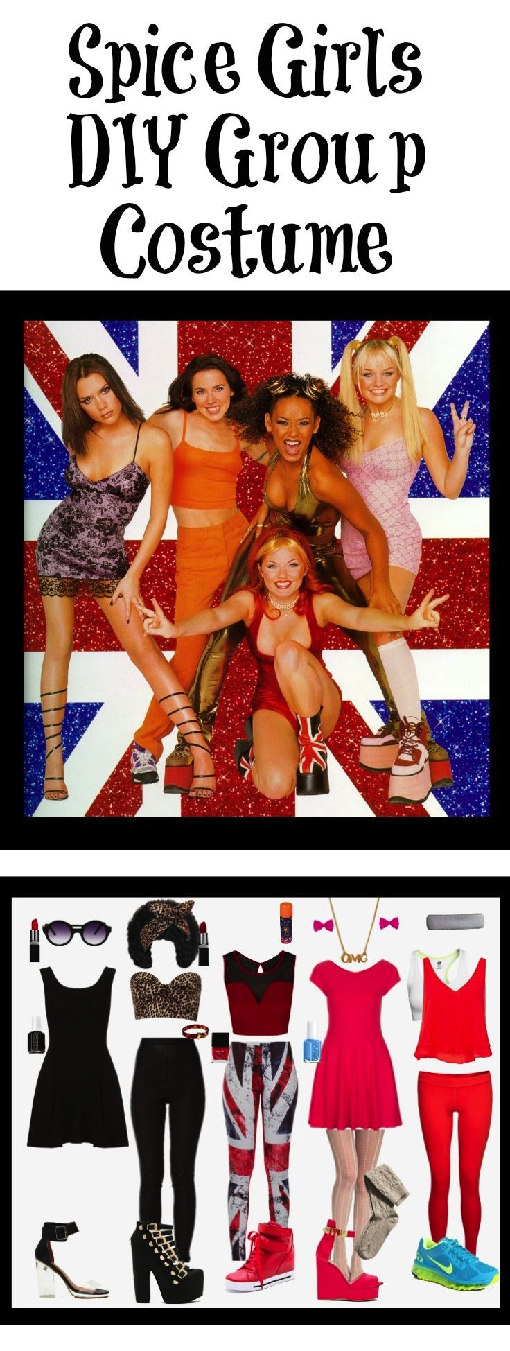 DIY Spice Girls Costume for Halloween. Style DIY costumes with this super fun…