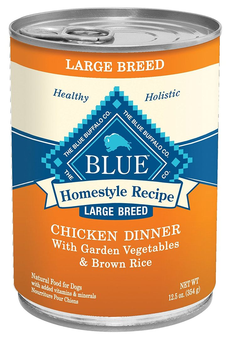 Blue buffalo large breed dog canned food chicken pack of