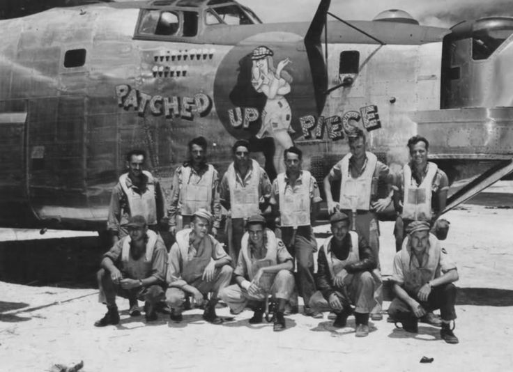 Consolidated B-24J-1-CF (converted to F-7A), s/n 42-64047,''PATCHED UP PIECE'' of the 20th CMS 5th AF, Morotai 1945
