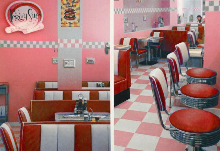 Bel Air HW-120DB - Double retro Diner booth / RED | Fifties retro furniture + wallart +NEON | Design meubels, Retro verlichting & cadeaushop...
