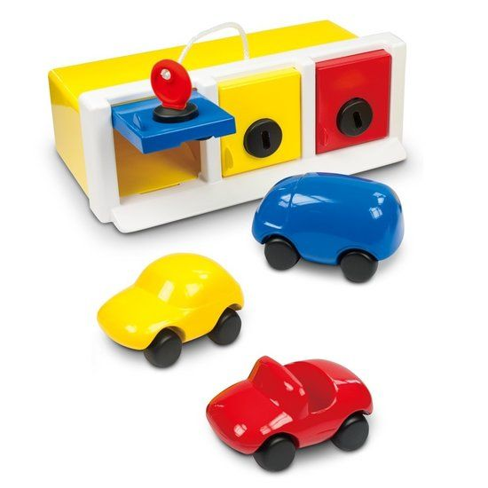 Ambi Toys Garage met auto's - De Oude Speelkamer