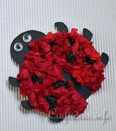 Paper Lady Bug Craft for Kids