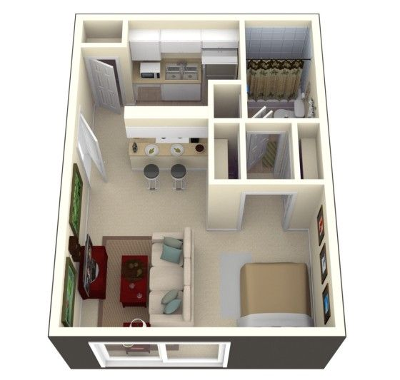 25 best ideas about planos de casas 3d en pinterest for Plano habitacion 3d