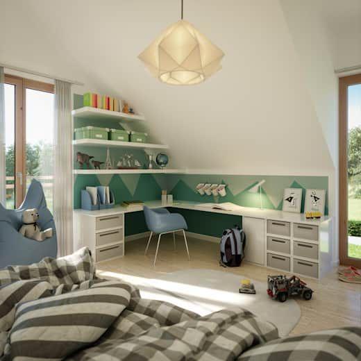 Sunshine 154: Jugendzimmer der Living Fertighaus GmbH   – Einrichten