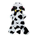 Moolecole Vaca Mascota Disfraz Perro Ropa Coral Terciopelo Osito De Peluche Vestir Espesamiento Ropa Por Otoño y Invierno Vaca L
