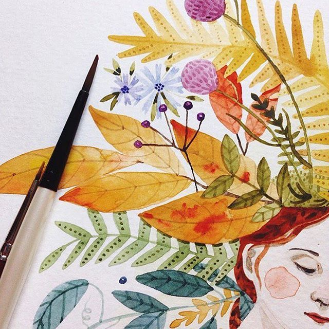 """My process finds its beginning in my sketchbook, where I can unearth emotions and experiment with creative expression. I'm a mixed media artist, working with watercolor, colored pencil and graphite, but it's always in the sketchbook I find my artistic roadmap."" #doitfortheprocess - @abigailhalpin"