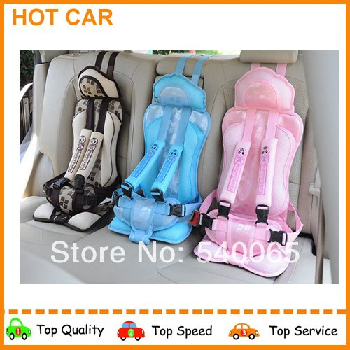 UPDATED 2014 Portable Baby/Child Car Safety Booster Seat Cover Harness Cushion Cream 3 colors free shipping Child car seat cover US $31.35