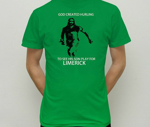 God created hurling t shirt by COMEBACKPETER on Etsy, £12.00