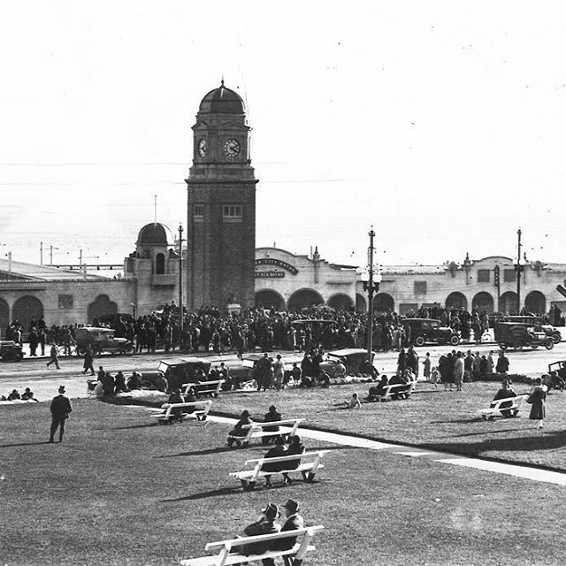 1932. The clock tower erected on St Kilda Esplanade as a memorial to the late Mr Carlo Catani, formerly chief engineer of the Public Works department, was officially opened yesterday afternoon.