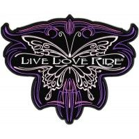 Live Love Ride Butterfly Ladies Back Patch | Embroidered Patches