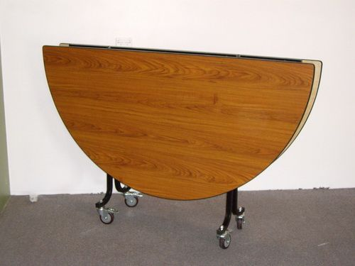 round folding table with wheels Round Folding Table for ...