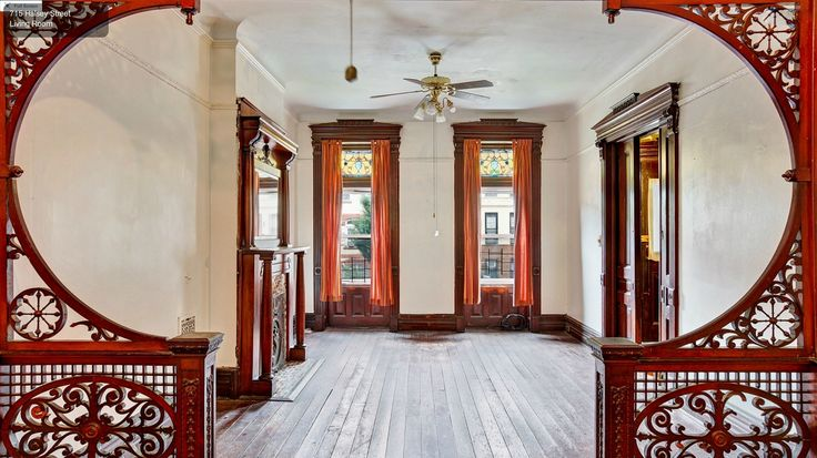 Brooklyn Halsey Street Victorian room woodwork partition | by techpro12