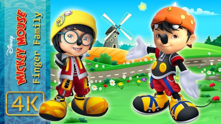 BoBoiBoy Galaxy Transforms Into Mickey Mouse Finger Family Song Boboiboy...