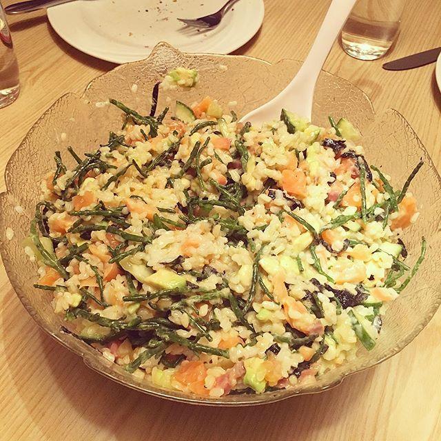 Ook op wintersport lekker eten: sushi in a bowl #watetenwevandaag #glutenfree