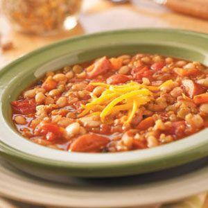 Bean Soup Mix: yellow & green split peas, lentils, pearly barley ...
