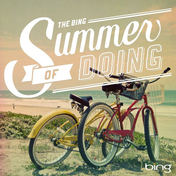 Summer of Doing: Summer Bikes, Bing Summer, Graphic Design, Graphics Design Typography, Bings Summer, Beach, Design Typography Graphic, Vintage Photo, Bing S Summer