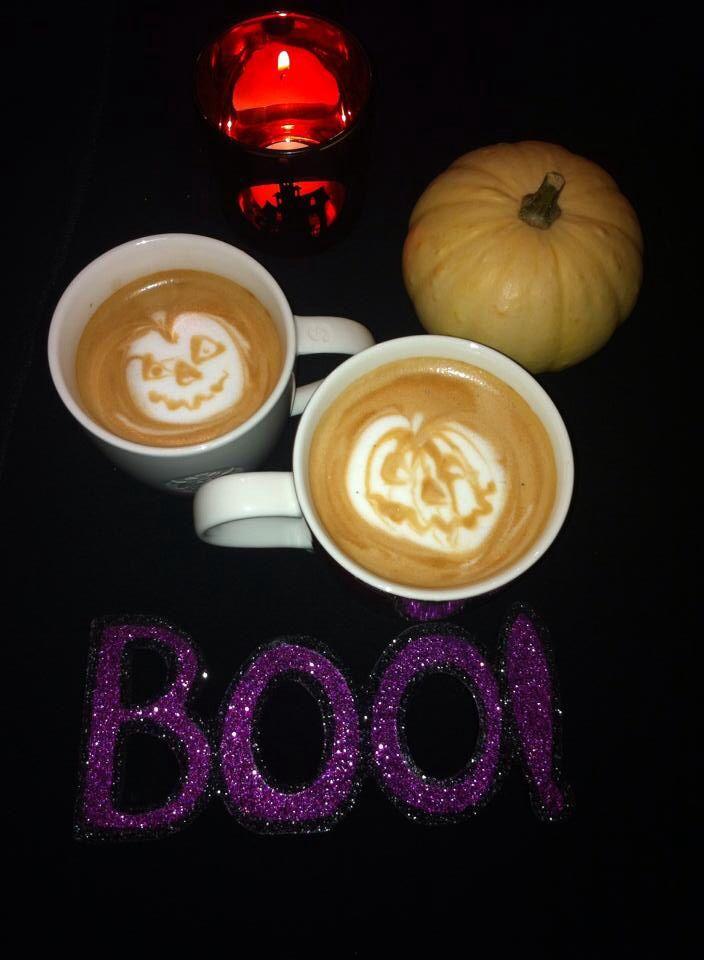 Pumpkin spice latte art