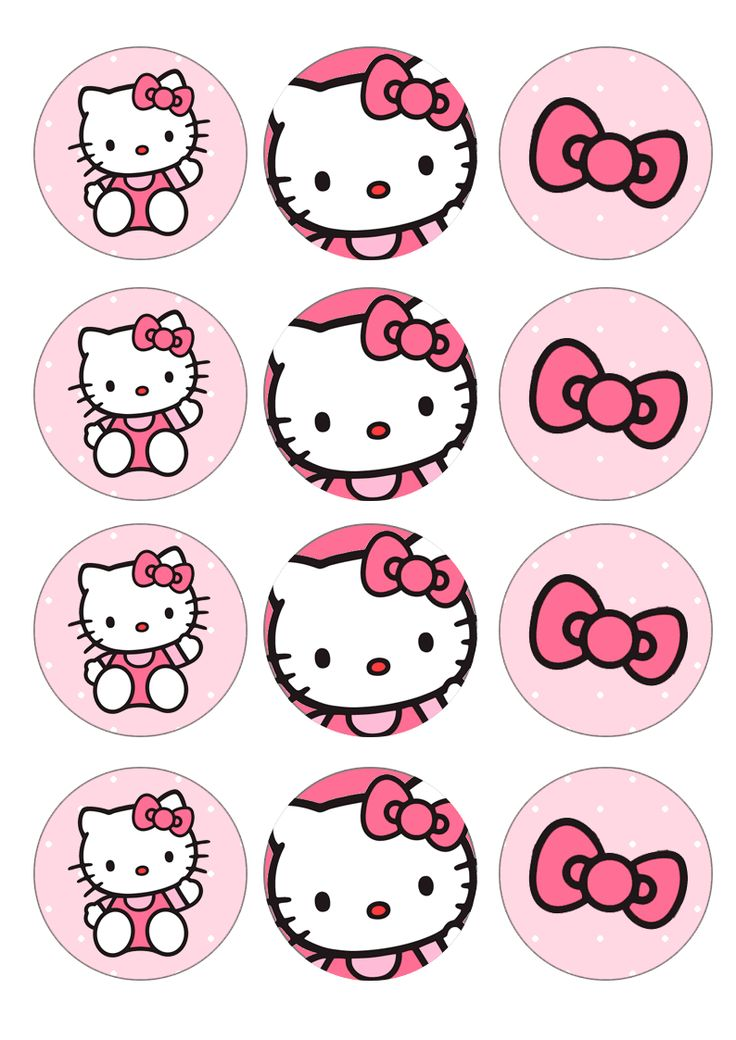 hello kitty cupcake topper template -