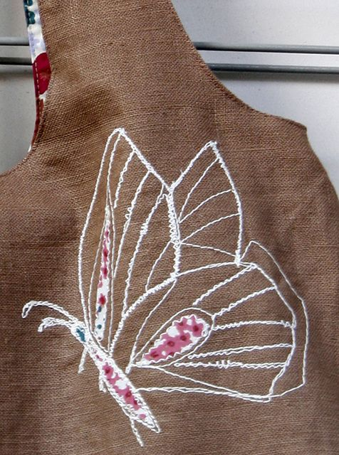 Borduren met de naaimachine, opgevuld met stofjes