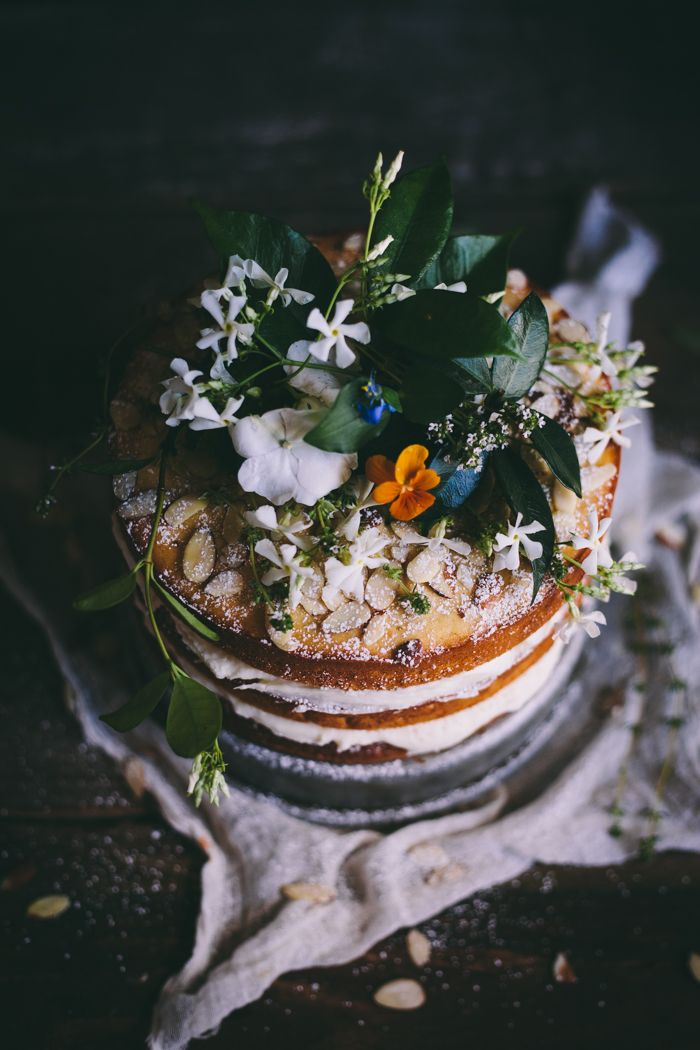 Orange Almond Cake with Orange Blossom Buttercream | Adventures in Cooking