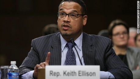 Rep. Keith Ellison, Bernie Sanders' lone supporter in the Congressional Black Caucus, defended the Vermont senator's civil rights record after Rep. John Lewis said he never saw Sanders at key moments during the 1960s.
