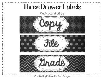 This is a two page PDF document of labels for the three drawer containers. The labels include File, Copy, and Grade. Do you love this style but want another color or different labels? Just email me at learningjourneys4th@gmail.com and Ill be happy to help you with a custom design.