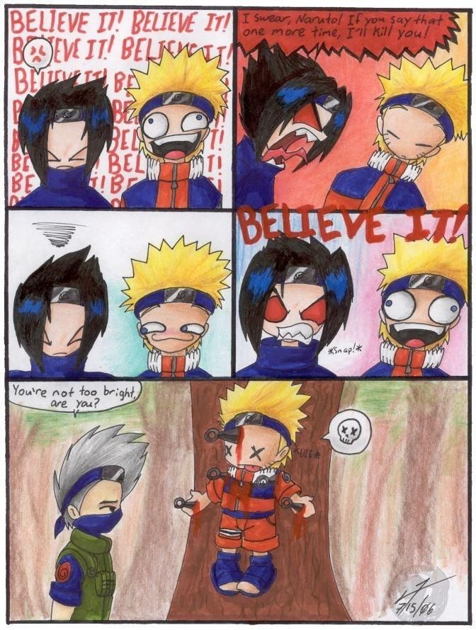 I know Sasuke's bad but OMG this....just lol