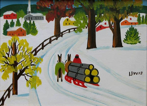 Hauling Logs by Maud Lewis