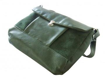 torby na ramię - damskie-TECZKA zieleń butelkowa