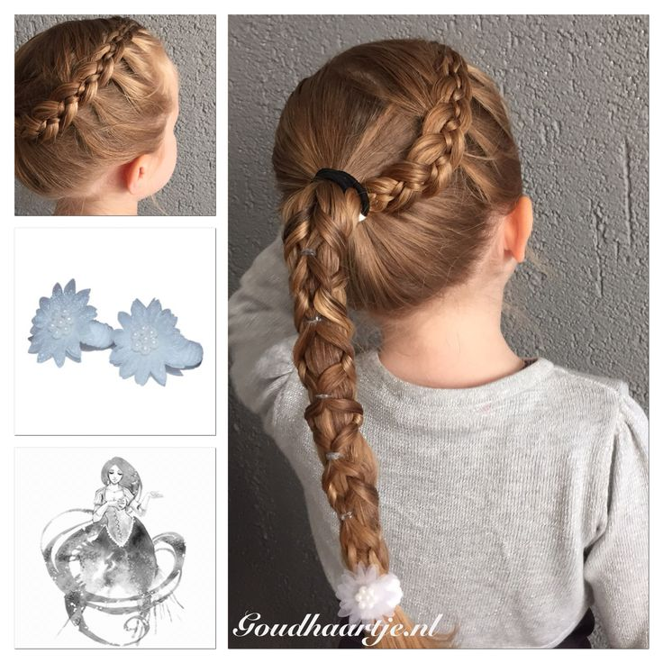 Pull through knotted ponytail with five strand braid at the side and hair elastic from Goudhaartje.nl #pullthroughbraid #braid #ponytail #fivestrandbraid #5strandbraid #hairelastics #hairaccesories #vlecht #paardenstaart #vijfstrengenvlecht #5strengenvlecht #haarelastiekjes #haaraccessoires #goudhaartje