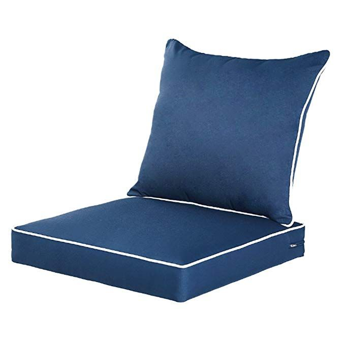 Qilloway Outdoor Indoor Deep Seat Chair Cushions Set Replacement