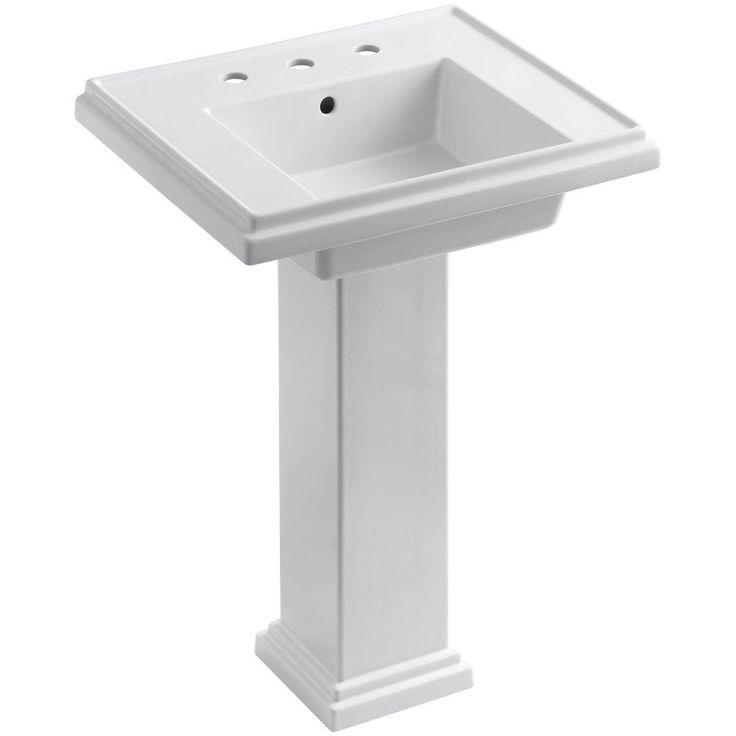 KOHLER Tresham Pedestal Combo Bathroom Sink with 8 in. Centers in White