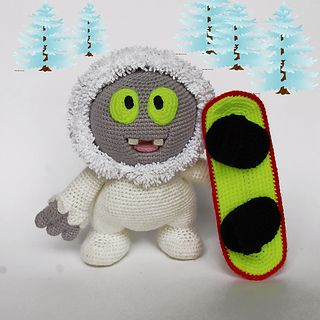 Have you ever seen real Yeti? I want to show you cute one - Yeti Moonik - charming boy and he likes to snowboarding very much. Moonik has a good friend - Yeti from Kinder Surprise - they are both so cool, aren't they?