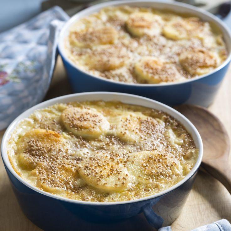 Überbackene Eier im Kartoffelauflauf