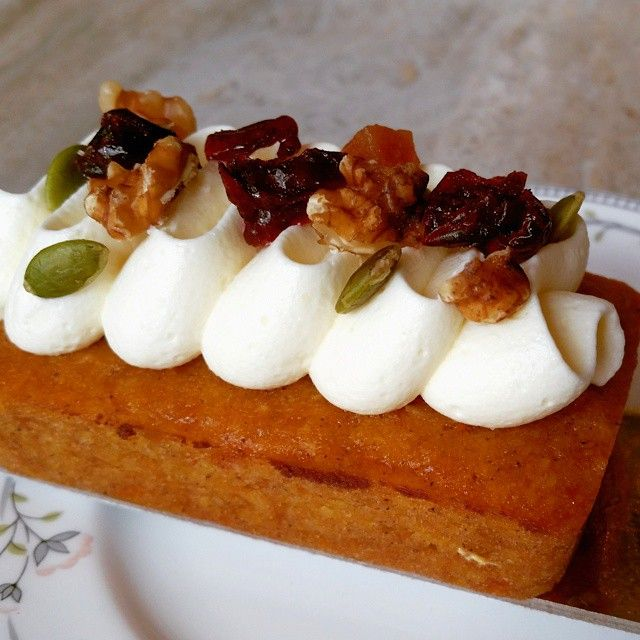 Swirly, nutty, crunchy - this is our famous carrot cake. #cake #dessert #sweettooth