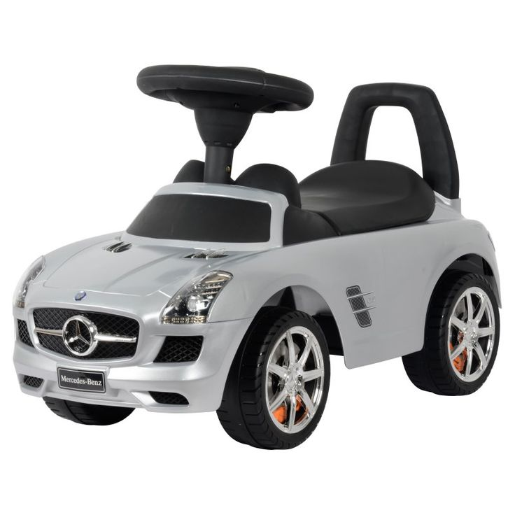 Best Ride On Cars Mercedes Benz Car Riding Push Toy Metallic Silver - MERCEDES PUSH CAR SILVER PAINT