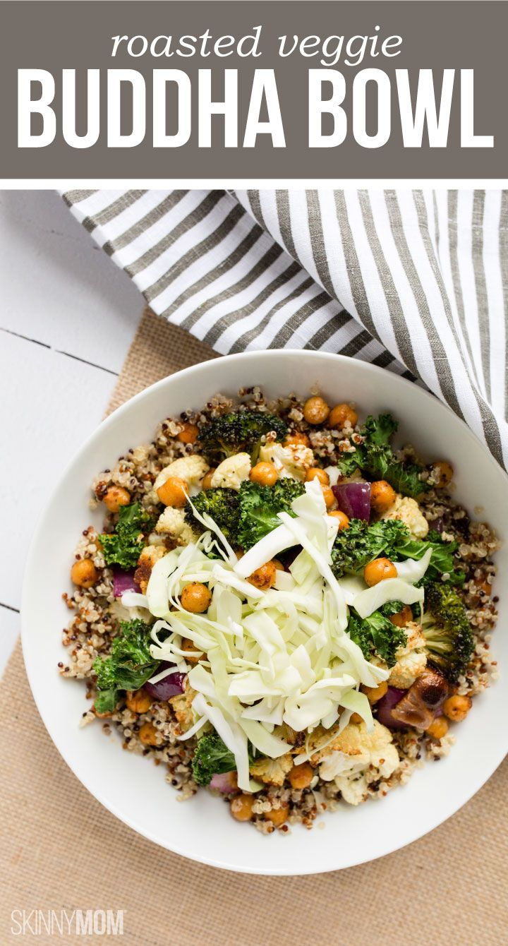 Roasted Veggie Buddha Bowl: a clean, protein-packed power lunch.